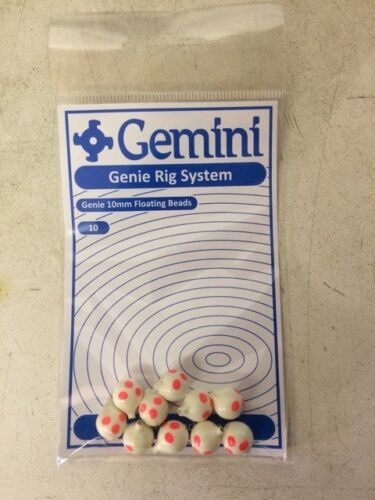 "10/'s Gemini Rig System Genie 10mm Floating Beads /""spotty/"""