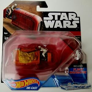 NEW-HOT-WHEELS-DIE-CAST-STAR-WARS-REY-039-S-SPEEDER-FREE-WORLDWIDE-SHIPPING