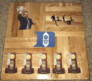 MIKE KRZYZEWSKI SIGNED DUKE BLUE DEVILS FLOORBOARD 2018 NCAA BASKETBALL CHAMPS