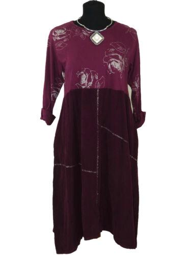 Oversize Tunika Übergröße Langarm Kleid Bluse Ballon Kleid Velours 42-44-46-48