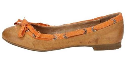 Best Connection BC 36 37 38 39 40 41 Leder Ballerina Orange Pumps Portugal Schuh