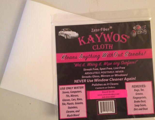 Kaywos Cleaning Towel Cloth (6) ECO Friendly Towel Reuseable Streak Free NIP