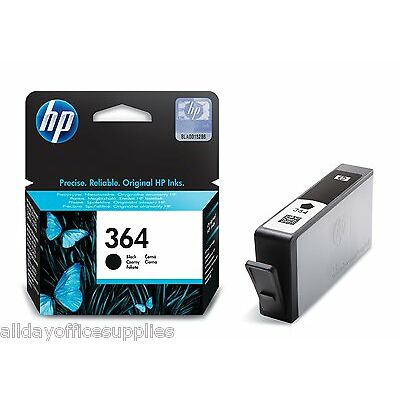 2x Original Genuine HP 364 Black Ink Cartridges for Photosmart 5510 Printer