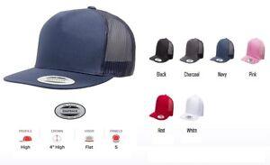 45bea6e644dfdc Yupoong 5 Panel Classic Trucker Hat Blank Plain Adjustable Cap OSFA ...