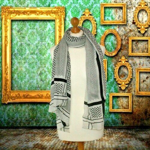 unique white and black scarf