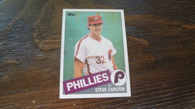 Philadelphia Phillies Baseball Cards 1985 Topps #360 Steve Carlton