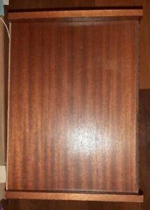 Table de chevet vintage merisier massif