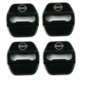 4pcs Stainless Steel Door Strikers Lock Buckle Cap Protective Cover For Nissan