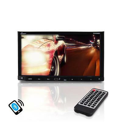 "Lanzar SDN698BX 7"" Double DIN DVD Bluetooth CD AM/FM AUX Receiver Monitor"