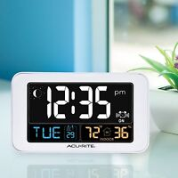 Bedroom Digital Alarm Clock Temp Humidity Time Day Date Office Table Usb Charger