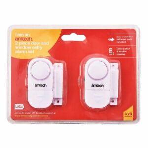 Soigneux 2 Piece Door & Window Entry Alarm Set 4 Piece Security Device Alert Burglar Home