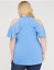 Lane-Bryant-Solid-Ruffled-Turquoise-halter-Top-PLUS-Size-14-16-18-20-22-24-26-28 thumbnail 4