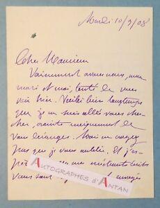 L-A-S-1908-Marie-Anne-de-BOVET-ecrivain-feministe-patriote-METZ-Lettre-Lemerre