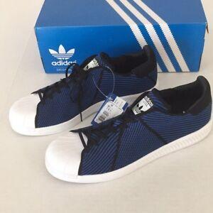 Bianco con Pk Nero 5 Blu Bounce Colore Nuovo scatola Superstar Uomo Adidas Taglia 11 7qxTSwYEI
