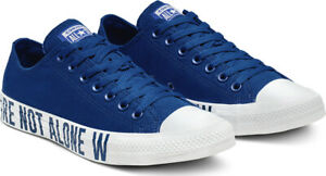 Converse-Chuck-Taylor-All-Star-Ox-UK-Size-9-Men-039-s-Trainers-Blue