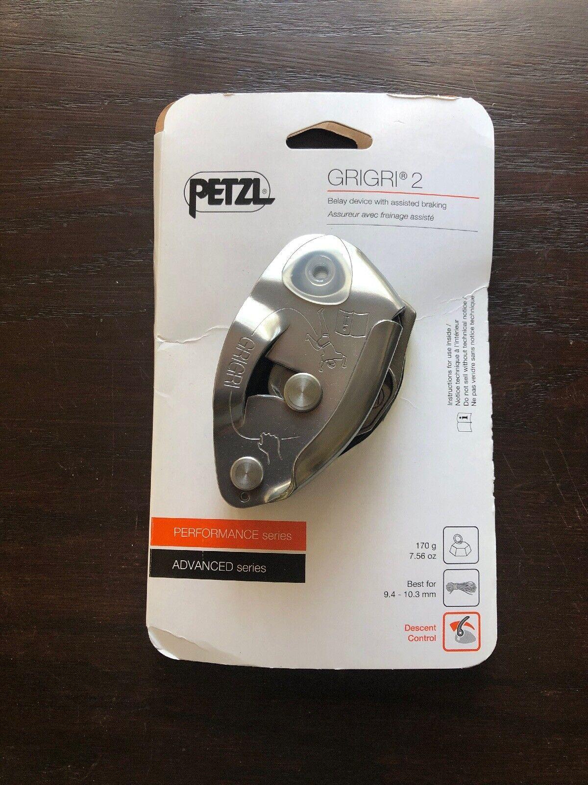 D14 2 G Petzl Grigri 2 Belay Device avec freinage assisté pour 8.9 To 11 Mm Corde