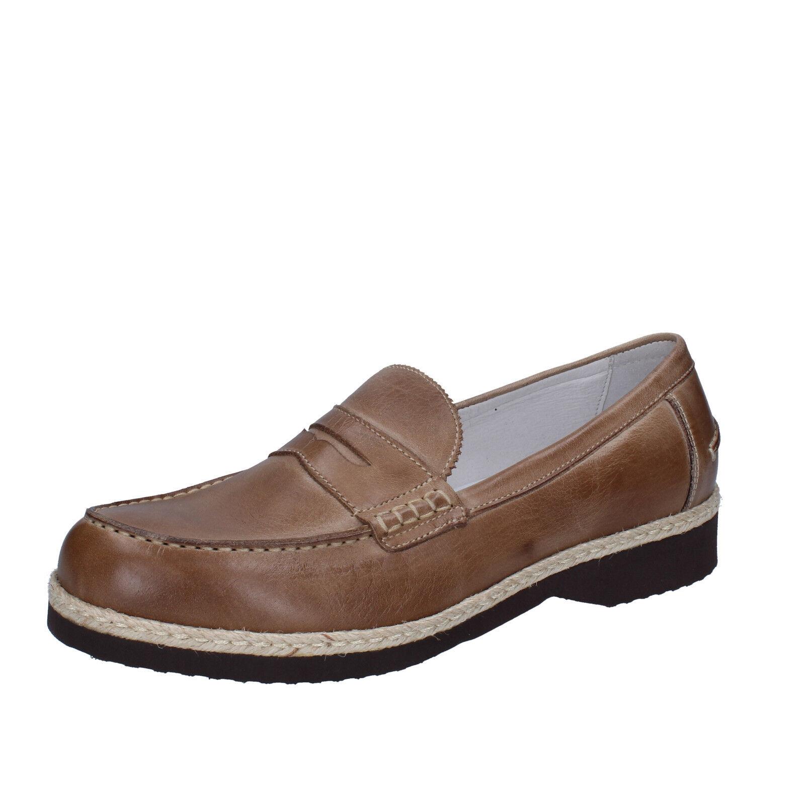 Mens zapatos EVOLUZION 10 (EU 44) loafers beige leather BZ405-C