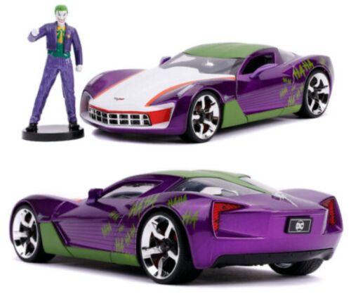 1//24 Jada Hollywood Rides 2009 Chevy Corvette Stingray+Joker Livraison Domicile