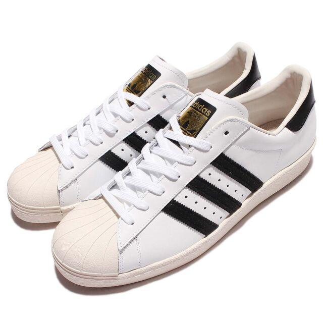 online store 73bec 7af4d adidas Originals Superstar 80s Grain Leather White Black Men Women G61070