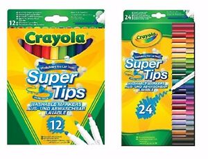 Crayola  Super Tips 12 and 24 pack - FAST & FREE DELIVERY