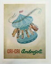 Pubblicità 1956 CARAMELLE AMBROSOLI CRI CRI MIELE RONAGO COMO old advert werbung