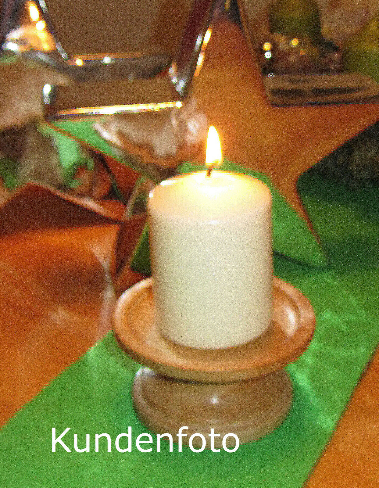 Kerzenst/änder aus heimischem Apfelholz