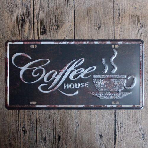 Metal Tin car plate coffee house Decor Bar Pub Home Vintage Retro Poster Cafe