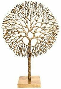 Gold Coloured Coral Sculpture - Tree Of Life - Home Decoration
