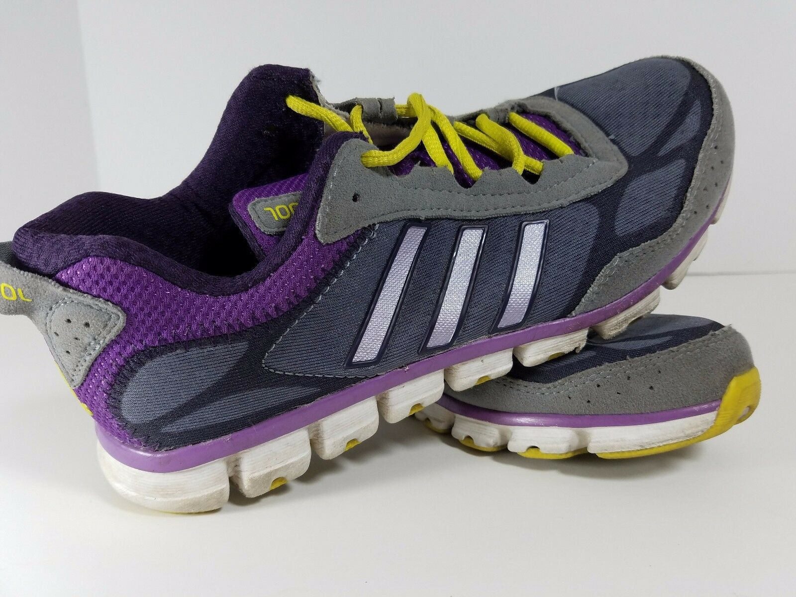 Adidas ClimaCool Sneakers US Sz 6.5 Purple+ Yellow Athletic Running Walking