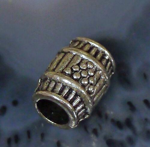 Bartgummi schwarz 2 Bart Perle Bartperle Bartschmuck Bartring ZINN LOCH 4,7 mm
