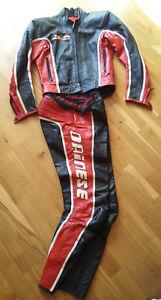 DAINESE-Vintage-Motorcycle-Leather-Suit-2-Pieces-Biker-Pant-Jacket-Veste-cuir