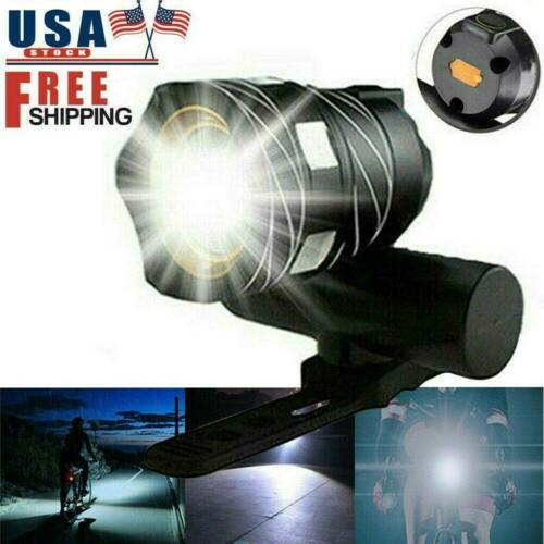 Rechargeable T6 LED MTB Bicycle Light 15000LM XM-L Bike Front Headlight US