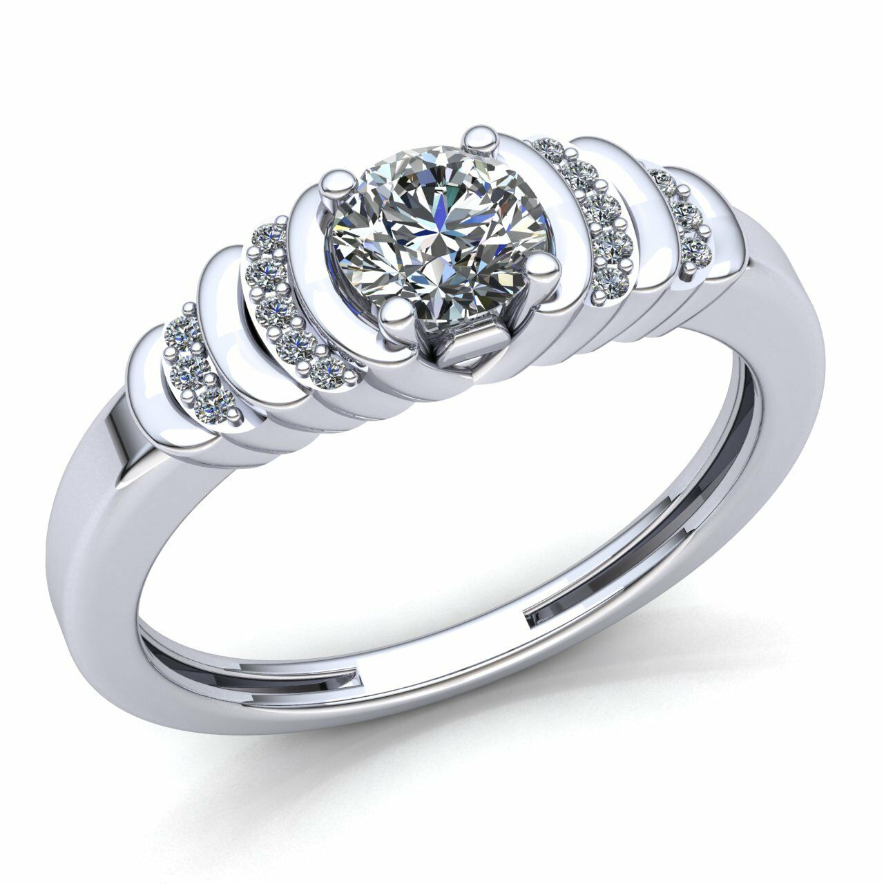 0.75ct Round Cut Diamond Ladies Solitaire Proposal Engagement Ring 10K gold
