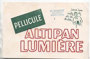 Buvard - Pellicule Altipan Lumière. Photographe. (réf. 67/3) Imenhava-07230730-161424789