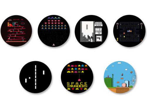 Lot Pack Magnet Aimant Frigo Ø38mm Retro Game Jeu Vidéo Retrogaming Arcade