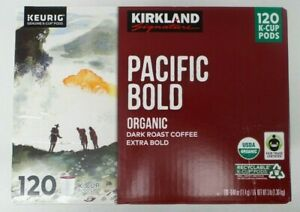 Kirkland Signature Pacific Bold Dark Roast Coffee ExtraBold 120 Count K-Cup Pods