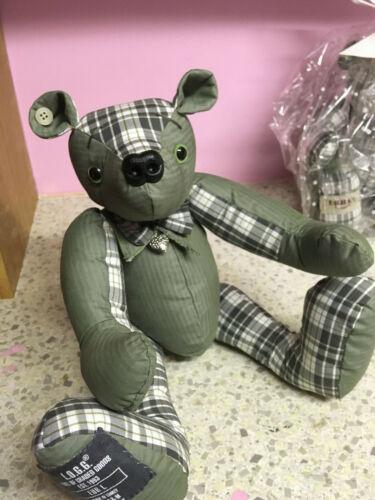 Handmade personalised OOAK memory traditional jointed memorial keepsake bear