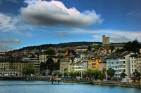Zurich Germany Cityscape Poster 24x36 Hi Res