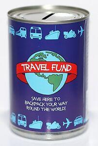 Travel-Fund-Savings-Tin-Money-Box-Saver-STANDARD-Holds-upto-260