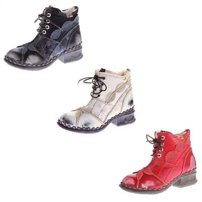 TMA Damen Winter Boots echt Leder Schuhe Stiefeletten gefüttert TMA 1868 Stiefel