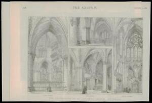1889-Antique-Print-LONDON-SOUTHWARK-CATHEDRAL-ST-SAVIOURS-RESTORATION-053