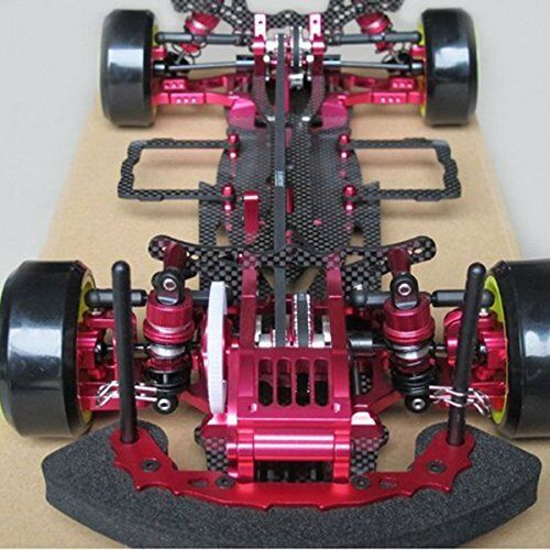 Red Alloy & Carbon Sakura D3 CS 3R OP RC 1 10 4WD Drift Racing Car Frame Kit