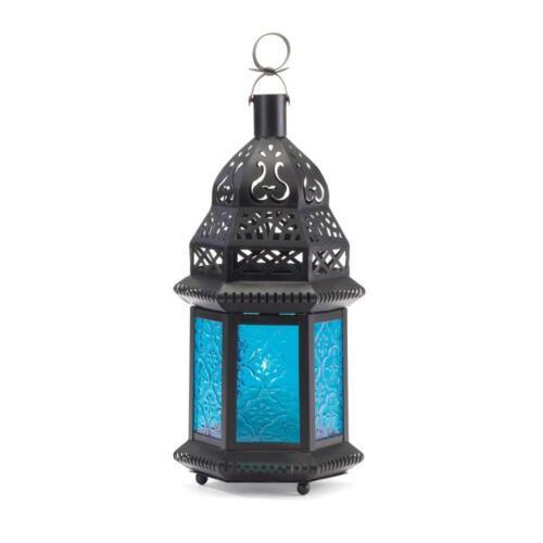 10 peacock ocean BLUE Moroccan Candle holder Lantern light wedding centerpiece