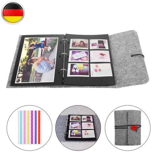 Filz Album Fotoalben Retro Fotoalbum DIY Gästebuch 30 Blatt Für Weihnachten Neu