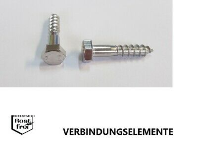 f000 Holzschrauben 6 mm tête hexagonale din571 Galvanisé Vis Clé Vis