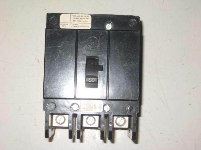 Westinghouse Cutler Hammer BA BA3050 3 Pole 240V 50 Amp Circuit Breaker