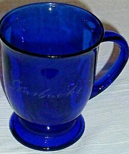 Starbucks-Coffee-Mug-Cup-Cobalt-Blue-Anchor-Hocking-Glass-4-5-034