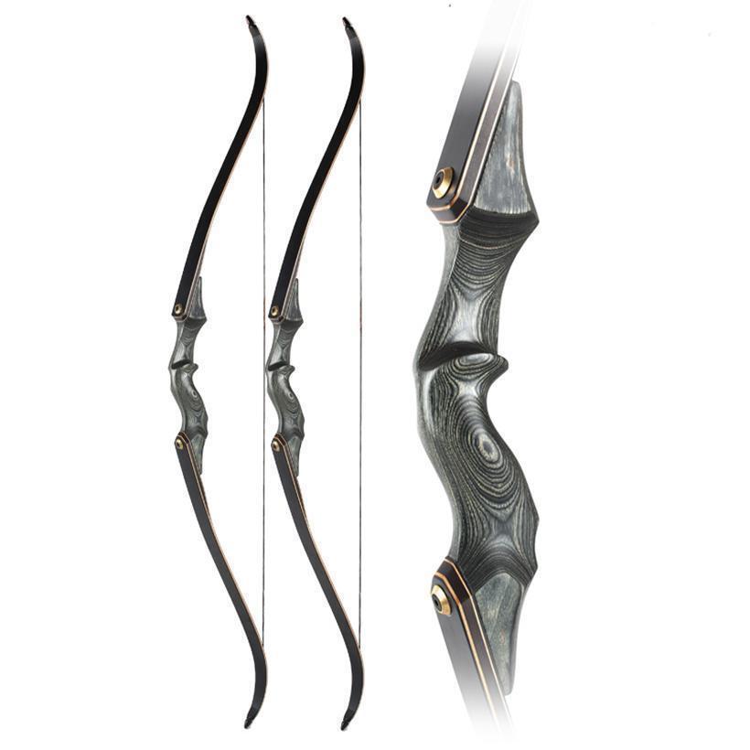 30-50lbs 60  años de Tiro con Arco Recurvo Arco Longbow Arco de destino de caza de mano derecha