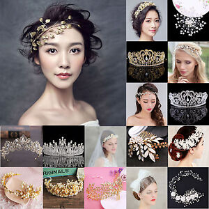 Luxury-Rhinestone-Crystal-Pearl-Flower-Tiara-Crown-Bridal-Headband-Hair-Band