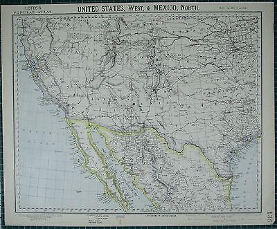 1883 CA Map Ukiah Twentynine Palms Valle Vista Vincent CALIFORNIA History   HUGE
